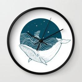 Whale dream Wall Clock