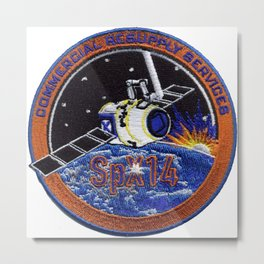 CRS-14: The NASA Patch Metal Print