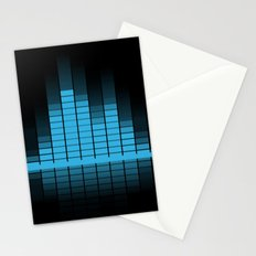 Blue Graphic Equalizer Stationery Cards