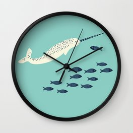 Narwhal story Wall Clock