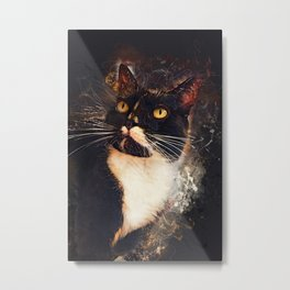 cat Jagoda art #cat #kitty Metal Print