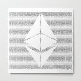 Binary Ethereum Metal Print