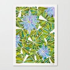 Water Lilies – Lavender & Green Palette Canvas Print