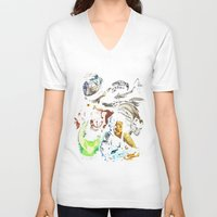 ripley V-neck T-shirts featuring Ripley´s nightmare by Zinge Designs
