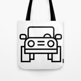 Jeep 4x4 Car Icon (Front-View) Tote Bag