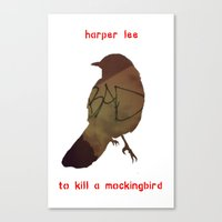 to kill a mockingbird Canvas Prints featuring Harper Lee, To Kill a Mockingbird by busylittle1way