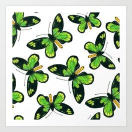 Queen Victoria' s birdwing butterfly pattern Art Print