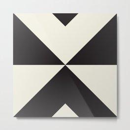 Split X Black Metal Print