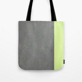 Chartreuse Concrete Tote Bag