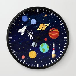 In space Wall Clock