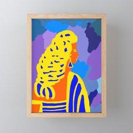 Девушка с косой Framed Mini Art Print