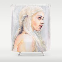 danny ivan Shower Curtains featuring Danny by Maria Bruggeman