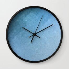 Minimalist Texture in Iridescent Blue 2 Wall Clock