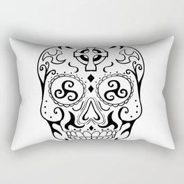 Mexican Skull Triskele Celtic Cross Tattoo Rectangular Pillow