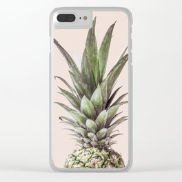 Pineapple Photography Tropical Art Clear iPhone Case