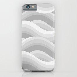 Wavy - Grey iPhone Case