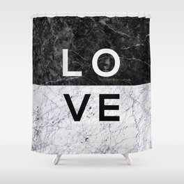 Love B&W Shower Curtain