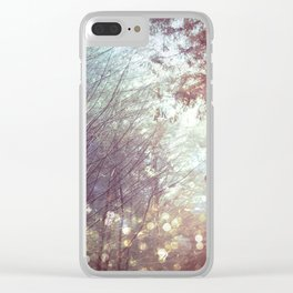 Magical Firefly Forest Clear iPhone Case