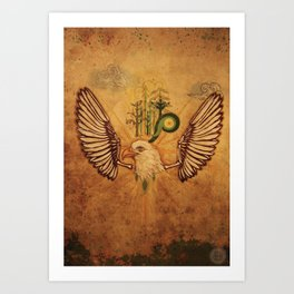 Bird series #3, Eagle Art Print