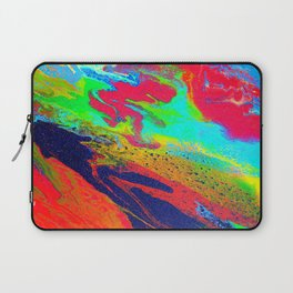 Abstract glitter art landscape painting Laptop Sleeve