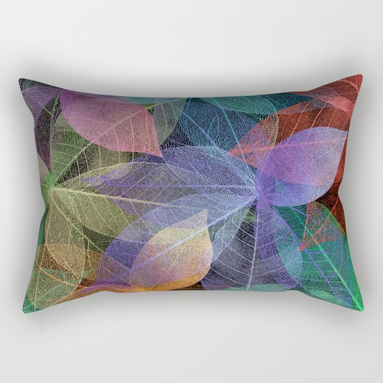 Colored Leaf Pattern 2 Rectangular Pillow