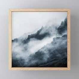 Foggy Mountains Framed Mini Art Print