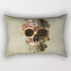Garden Skull Light Rectangular Pillow