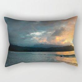 Hanalei Sunset (panorama) Rectangular Pillow