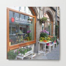 German Flower Shop Metal Print