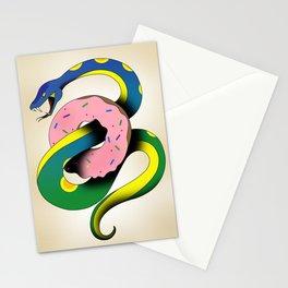 Donut Snake Stationery Cards