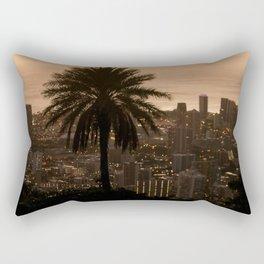 sunset over city Rectangular Pillow