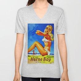 Vintage Herne Bay Kent England Travel Unisex V-Neck