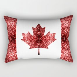Canada flag red sparkles Rectangular Pillow