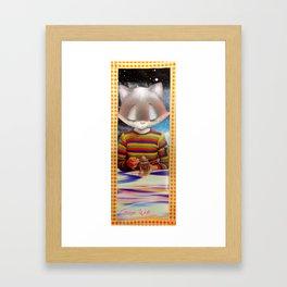 Bulb handcut collage Framed Art Print