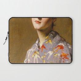 12,000pixel-500dpi - William Merritt Chase - Girl In A Japanese Costume - Digital Remastered Edition Laptop Sleeve