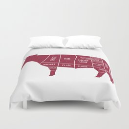 Beef Chart Cuts BBQ Barbecue Grill Duvet Cover