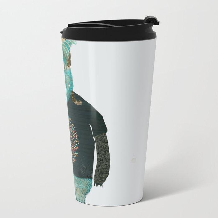 cookie and big blue Metal Travel Mug