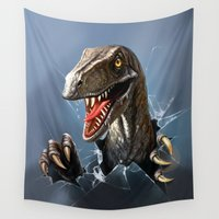 dinosaur Wall Tapestries featuring dinosaur by Antracit