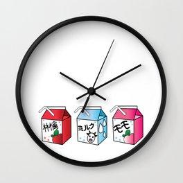 Kawaii Drink Cartons Wall Clock