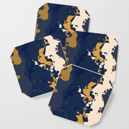 gold n blue Coaster
