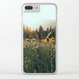 Daisy Meadow in Yosemite Clear iPhone Case