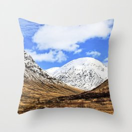 Spring in Glen Etive, Scottish highlands Throw Pillow