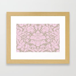 French chic pink Framed Art Print