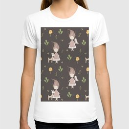 Woodland Nymph - Brown T-shirt