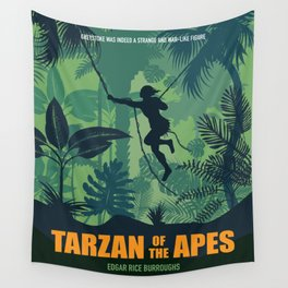 Tarzan of the Apes - Alternative Movie Poster Wall Tapestry