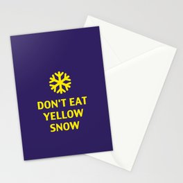 Don't Eat Yellow Snow Stationery Cards
