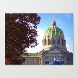 Pennsylvania State Capitol Building Autumn Canvas Print