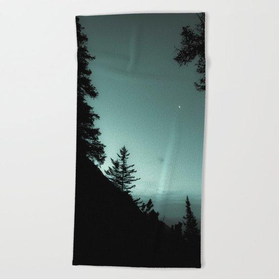 Moonlight Poem Beach Towel