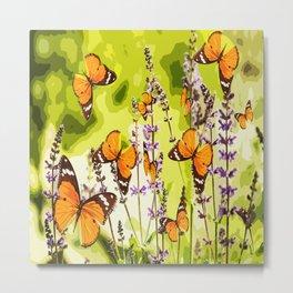 Butterflies and flowers - summery atmosphere in late summer - #pivivikstrm #buyart Metal Print