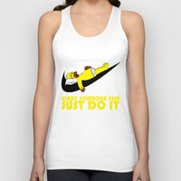 homer Tank Tops featuring Homer Lazy by Maxvtis